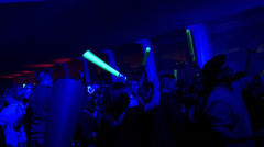music festival dj dance event - stock footage