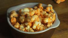 Popcorn, Popped Corn, Snacks Stock Footage