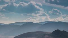 Transylvania hills sun beams landscapes  time lapse HD Stock Footage