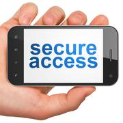 Privacy concept: Secure Access on smartphone - stock illustration