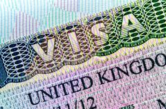 uk visa - stock photo