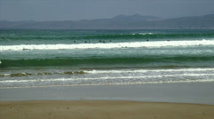 Surfers in Morrow Bay Stock Footage
