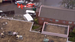 City Flood Water Rescue Buildings Stock Footage