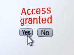 Protection concept: Access Granted on digital computer screen Stock Illustration