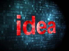 Marketing concept: Idea on digital background - stock illustration