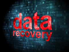 Stock Illustration of Information concept: Data Recovery on digital background