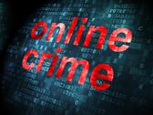 Stock Illustration of Privacy concept: Online Crime on digital background