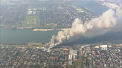 Harbor New Orleans Fire Stock Footage