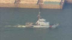 Harbor Hurricane Katrina Waters Stock Footage