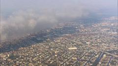Hurricane Katrina New Orleans Skyline Stock Footage