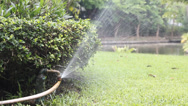 Stock Video Footage of Leaking Garden Hose