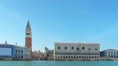 Venice cityscape sea view Stock Footage