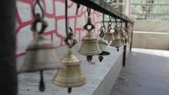 Ringing Bells at a hindu temple. Stock Footage