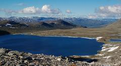 lake in northern scandinavia - stock photo
