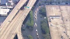 Hurricane Katrina Relief Efforts Superdome Stock Footage