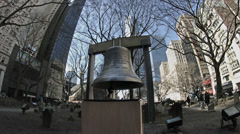 Trinity Church bell ground zero. Stock Footage