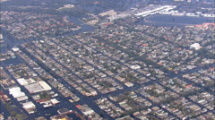 New Orleans Flooded Residential Area Stock Footage
