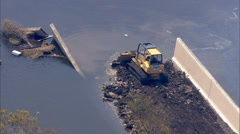 Hurricane Katrina Levee Destruction - stock footage