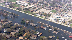 Hurricane Katrina Levee Destruction Stock Footage