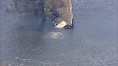 Flooded Residential Area Hurricane Katrina Stock Footage