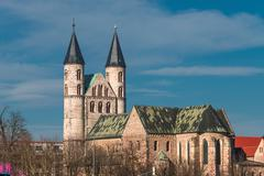 Kloster unser lieben frauen, monastery of our lady in magdeburg, germany Stock Photos