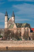 kloster unser lieben frauen, monastery of our lady in magdeburg, germany - stock photo