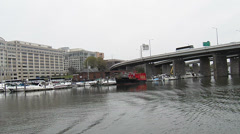 Ariving at River Dock Stock Footage