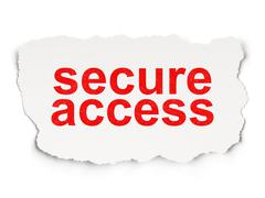 Security concept: Secure Access on Paper background - stock illustration