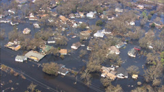 Flooded Town New Orleans Stock Footage