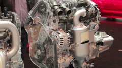 Peugeot 308 sw the engine Stock Footage
