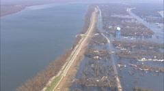 Flooded Town Hurricane Katrina Stock Footage
