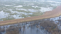 Flooded Farmland New Orleans Stock Footage