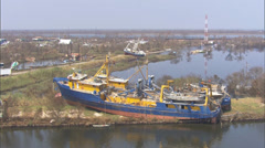 Boats Destroyed Hurricane Katrina Stock Footage