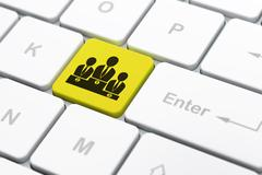 Law concept: Business Team on computer keyboard background Stock Illustration