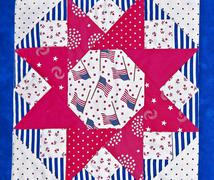 Americana quilt block design Stock Photos