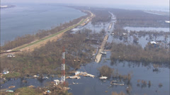 Hurricane Katrina US Naval Ship Stock Footage