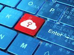 Networking concept: Cloud Whis Key on computer keyboard backgrou Stock Illustration