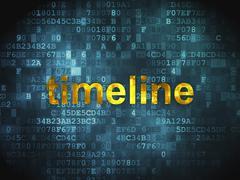 Timeline concept: Timeline on digital background - stock illustration