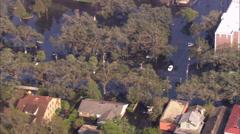 Hurricane Katrina House Flood Stock Footage