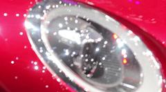 Mini clubman headlamp Stock Footage