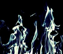 Blue flame fire on black background Stock Illustration