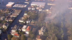 New Orleans House Fire Stock Footage