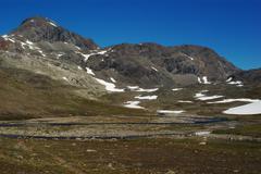 barren mountain scenery - stock photo