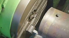 HD Milling machine detail Stock Footage