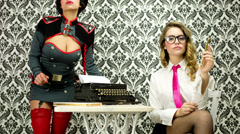 Stock Video Footage of sexy secretary office burlesque business