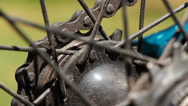 Stock Video Footage of Bicycle gear and chain 1a