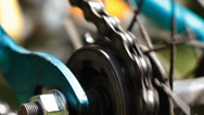 Stock Video Footage of Bicycle gear and chain 2b loop