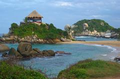 Beach hut in tayrona Stock Photos
