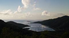 Time Lapse, Dawn - Coral Bay, St. John, USVI - stock footage