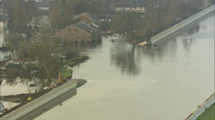 New Orleans Hurricane Flood Stock Footage